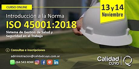 INTRODUCCION A LA NORMA ISO 45001 tickets