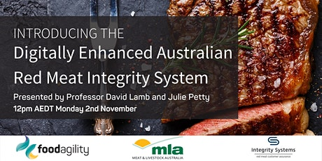 Digitally Enhanced Australian Red Meat Integrity System tickets