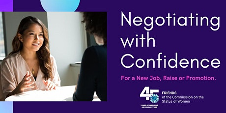 Negotiating with Confidence tickets