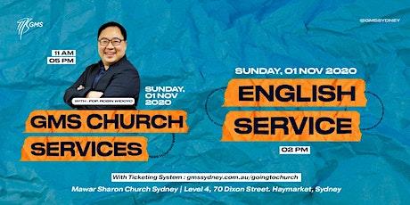 Special English Live Service @ 2pm -1 November 2020