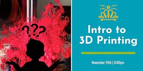 Intermediate 3D Printing tickets