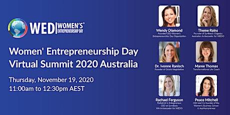 Women's Entrepreneurship Day Virtual Summit 2020 Australia tickets