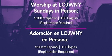 Sunday Service | Servicios Dominicales boletos