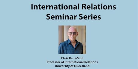International Relations Seminar Series tickets