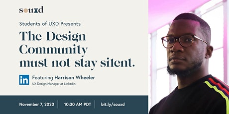 The Design Community Must Not Stay Silent // hosted by Students of UXD tickets
