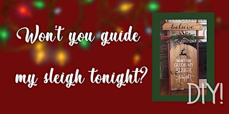 DIY. Pick up and take home Christmas sleigh tickets