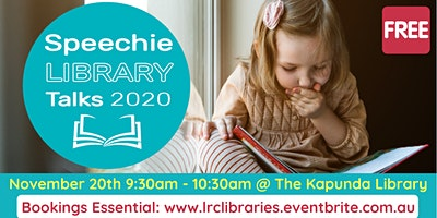 Speechie Library Talk (Speech Pathologist) @ Kapunda Library