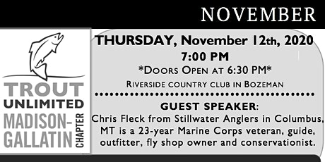Madison Gallatin Trout Unlimited's November General Meeting tickets