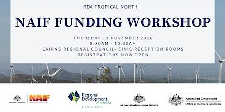 RDA Tropical North NAIF Funding Workshop (Thur 19 Nov) tickets