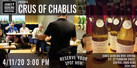 Wednesday Masterclass: Crus of Chablis (7 wines to taste!) tickets