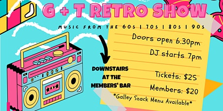 TCYC New Year's Eve Party - Downstairs in the Member's Bar - DJ G+T Retro tickets
