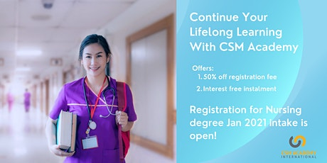 BSc Nursing Degree Course Preview For  Jan 2021 intake! tickets