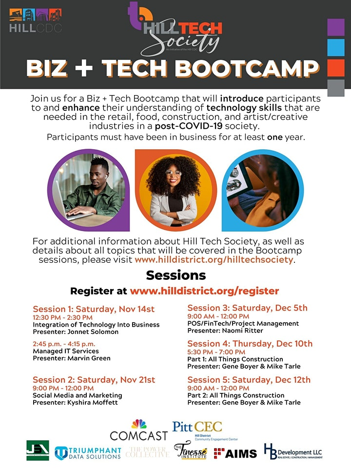 BIZ + Tech Bootcamp: Integration of Technology Into Business image
