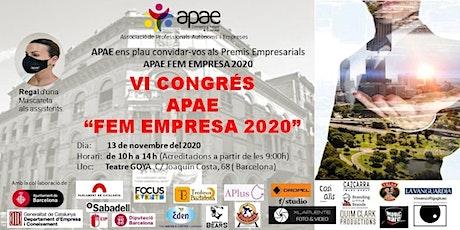 VI Congrés APAE FEM EMPRESA 2020 + Premios +Sorteos  + Elevator Pich. entradas