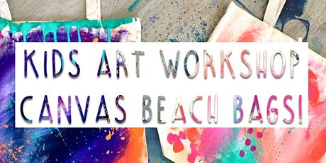Kids Intuitive Art Workshop - CANVAS BEACH BAGS tickets