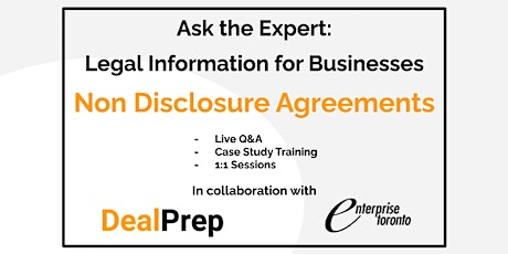 Ask the Expert: Legal Information for Businesses - NDAs tickets