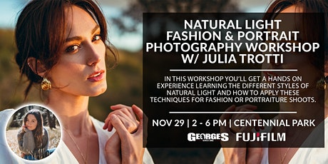 Natural Light Fashion & Portrait Photography Workshop with Julia Trotti tickets