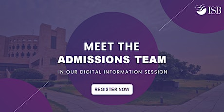 ISB PGP Digital Info-session (Round 2) - New Delhi 11 AM tickets