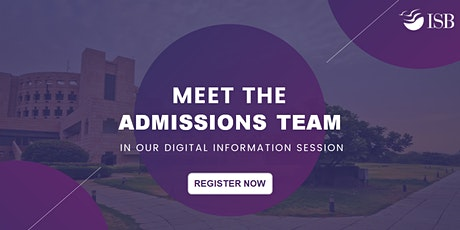 ISB PGP Digital Info-session (Round 2) - New Delhi 4 PM tickets