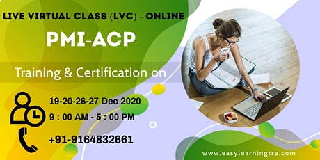 Online PMI-ACP Training and Certification tickets