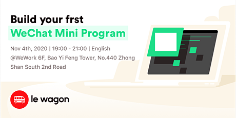 Build your first WeChat Mini Program tickets