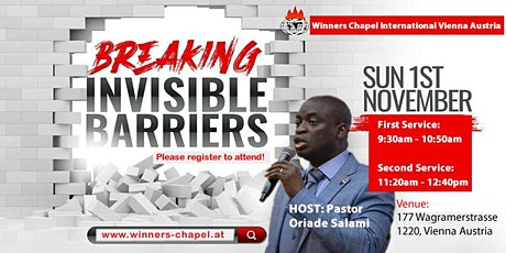 2nd Service | Sunday, 1st November | Breaking Invisible Barrier Service tickets
