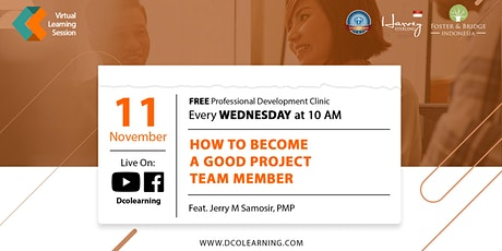 How To Become A Good Project Team Member with Pak Jerry Samosir, PMP tickets