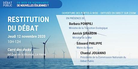 """Restitution du débat """"En mer, en Normandie, de nouvelles éoliennes ?"""" billets"""