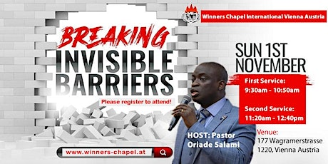 1st Service | Sunday, 1st November | Breaking Invisible Barrier Service tickets