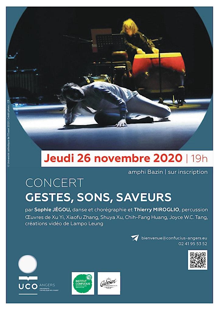 """Image pour Spectacle  """"Gestes, Sons, Saveurs"""" danse & percussion"""
