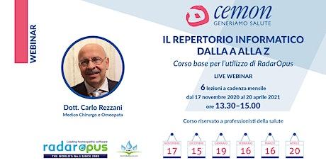 WEBINAR - Dott. Carlo Rezzani- IL REPERTORIO INFORMATICO DALLA A ALLA Z