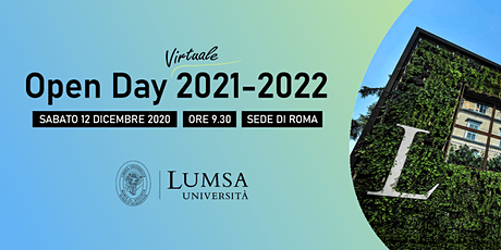 Open Day Virtuale - Università LUMSA - Sede di Roma biglietti