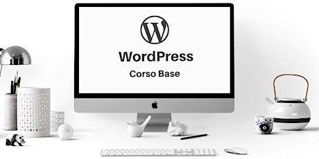 Corso online: WordPress base con Elementor biglietti