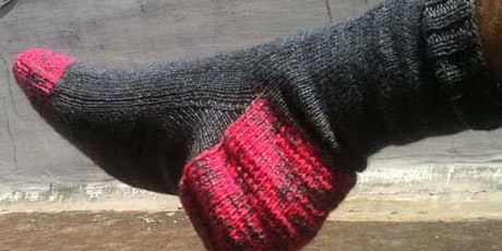 Learn to knit socks (on 2 needles - In Person or Online)