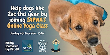 Online Yoga Class in aid of IAPWA sponsored by pet-id tickets
