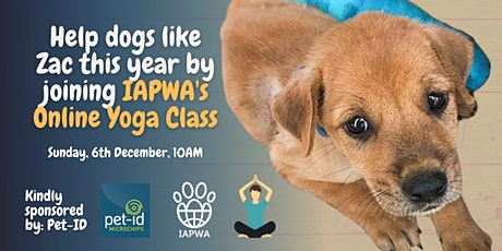 Pet ID and IAPWA invite you to a special on-line yoga class tickets