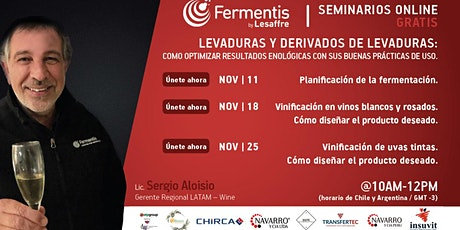 "Fermentis Academy - Ciclo de Seminarios Online ""Actualización Enológica"" entradas"