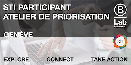STI Participant - Atelier de priorisation (Plateforme de Genève) tickets