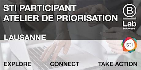 STI Participant - Atelier de priorisation (Plateforme de Vaud) billets