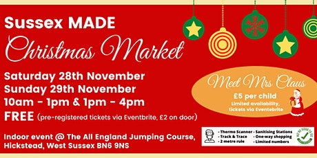 Sussex MADE Christmas Market 1- 4pm Session tickets