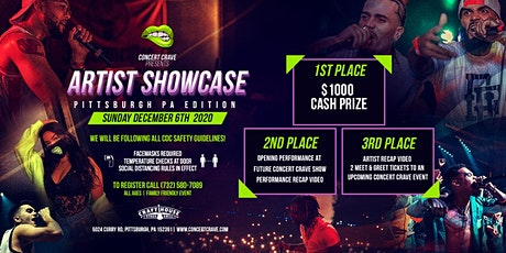 Concert Crave Artist Showcase - PITTSBURGH, PA 12.06.20 tickets