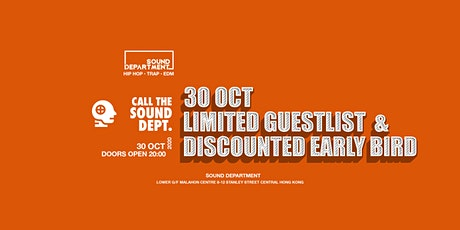 FRIDAY FREE DRINKS GUESTLIST @ Sound Department tickets