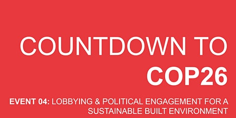 Countdown to COP #4 - Lobbying & Political Engagement tickets