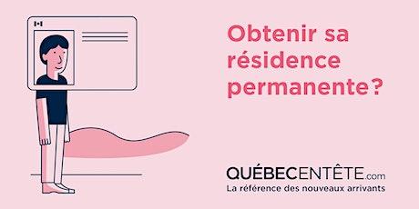 Devenir résident permanent canadien au Québec - EN LIGNE billets