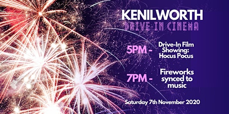 Kenilworth Drive In Film and Firework Extravaganza - 2 tickets