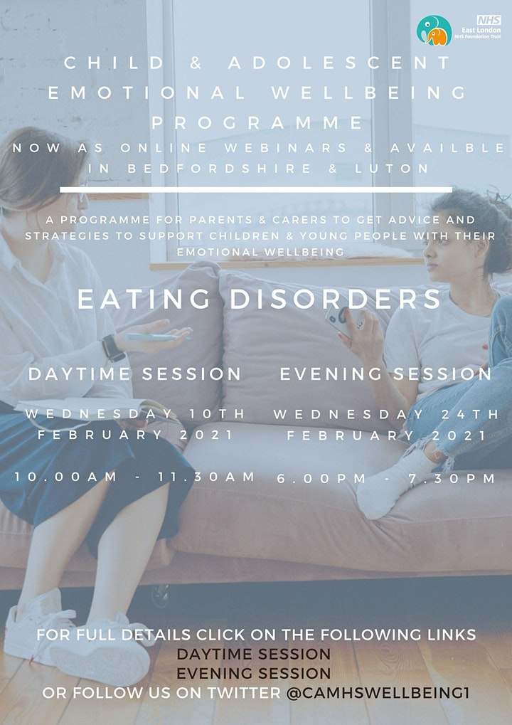 Eating Disorders (PM session) image