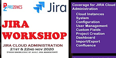 JIRA Cloud Administration  Online Instructor Led Nov 2020 tickets