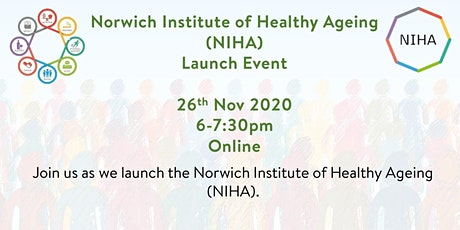Norwich Institute of Healthy Ageing - Launch tickets