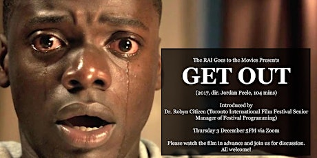 The RAI Goes to the Movies: Get Out (2017, dir. Jordan Peele) tickets