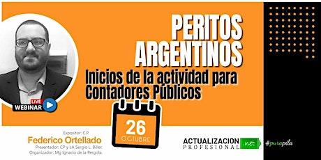 GRABCION PERITOS ARGENTINOS: Inicios de la actividad para CP entradas